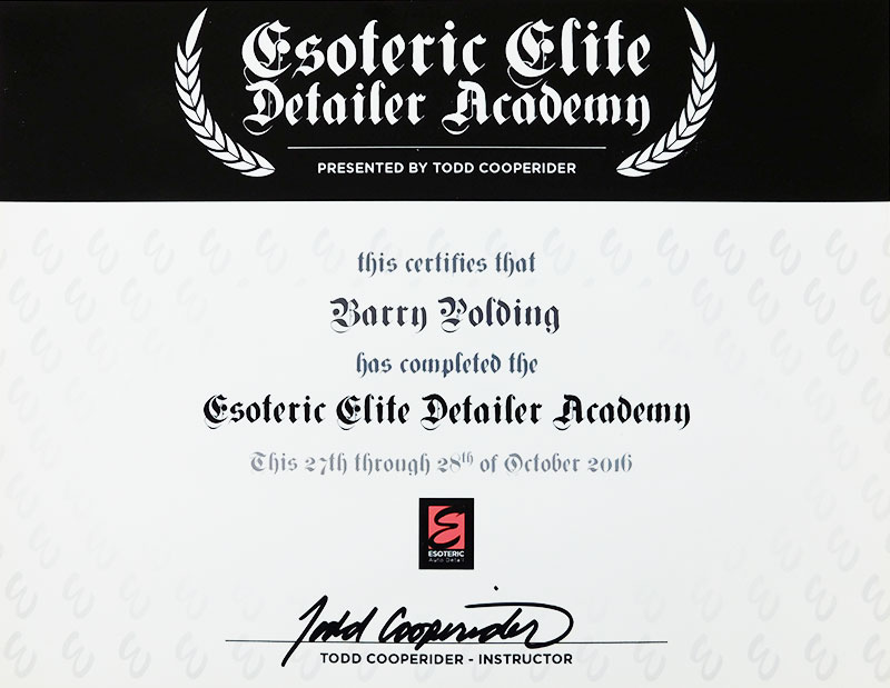 Esoteric Elite Certificate